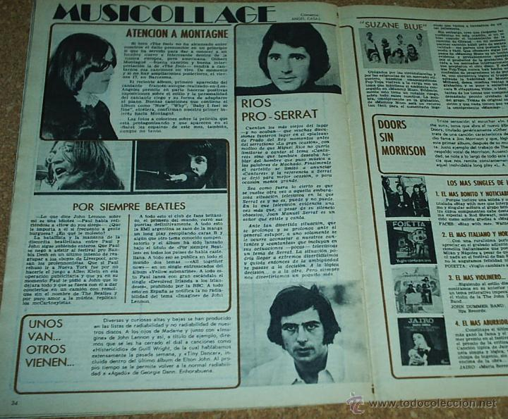 Coleccionismo de Revistas y Periódicos: NUEVO FOTOGRAMAS 1221DE MARZO 1972-MARISOL-PORTADA, REPOR. 2 PG.3 FOTOS Y EL POSTER-TAMBIEN BEATLES - Foto 3 - 53600059