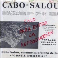 Coleccionismo de Revistas y Periódicos: TARRAGONA 1964 CABO-SALOU URBANIZACION HOJA LIBRO. Lote 53603954