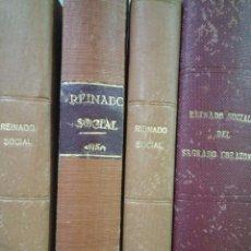 Coleccionismo de Revistas y Periódicos: LOTE REINADO SOCIAL DEL SAGRADO CORAZON - AÑOS 49 / 50 / 52 / 54 / 55 - ENCUADERNADOS. Lote 53620147