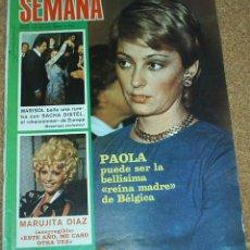 Coleccionismo de Revistas y Periódicos: SEMANA Nº 1628 -5.1971-MARISOL SE MARCA UN BAILE CON SACHA DISTEL 2 PG Y 7 FOTOS-LEER ENVIOS. Lote 53678640