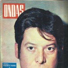 Coleccionismo de Revistas y Periódicos: REVISTA ONDAS.DICIEMBRE. 1967. Nº 369. VICENTE PARRA. JOSÉ LUIS OZORES. GILA. MARGARITA GÓMEZ ACEBO.. Lote 53718434