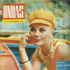 Coleccionismo de Revistas y Periódicos: REVISTA ONDAS.ABRIL . 1967. Nº 352. ELKE SOMMER. PRÍNCIPES DE MÓNACO. TITA PAVONE. . Lote 53718708
