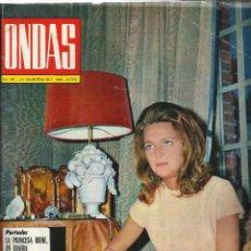 Coleccionismo de Revistas y Periódicos: REVISTA ONDAS. OCTUBRE . 1968. Nº 381. PRINCESA IRENE. CHEVALIER. FRANCISCO RABAL. PINITO DEL ORO. Lote 53718765