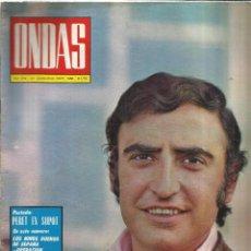 Coleccionismo de Revistas y Periódicos: REVISTA ONDAS. SEPTIEMBRE. 1968. Nº 379. PERET. PAQUITA RICO. VICENTE PARRA. IRENE GUTIERREZ CABA. Lote 53718976