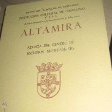 Coleccionismo de Revistas y Periódicos: ALTAMIRA REVISTA DEL CENTRO DE ESTUDIOS MONTAÑESES SANTANDER 1973. Lote 53743310