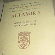 Coleccionismo de Revistas y Periódicos: ALTAMIRA REVISTA DEL CENTRO DE ESTUDIOS MONTAÑESES SANTANDER 1974. Lote 53743400
