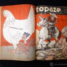 Coleccionismo de Revistas y Periódicos: REVISTA HUMORÍSTICA TOPAZE. EL BARÓMETRO DE LA POLÍTICA CHILENA. UN TOMO CON 20 NÚMEROS 1961 . Lote 53743814