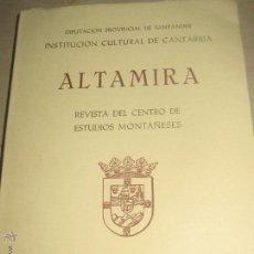 Coleccionismo de Revistas y Periódicos: ALTAMIRA REVISTA DEL CENTRO DE ESTUDIOS MONTAÑESES SANTANDER 1972. Lote 53759842