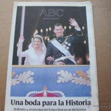 Coleccionismo de Revistas y Periódicos: ABC BODA REAL 2004. Lote 53884442