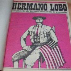 Coleccionismo de Revistas y Periódicos: HERMANO LOBO- 4 TOMOS CON 25 REVISTAS CADA UNO, DEL 1 AL 100. Lote 126907642