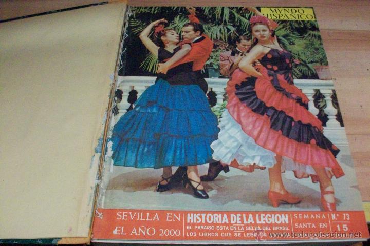 MUNDO HISPANICO-TOMO CON 10 REVISTAS AÑOS 1954/1955 (Coleccionismo - Revistas y Periódicos Modernos (a partir de 1.940) - Otros)