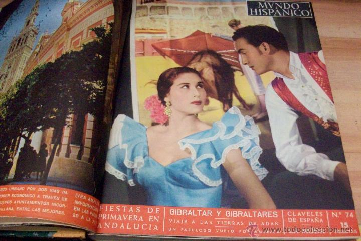 Coleccionismo de Revistas y Periódicos: MUNDO HISPANICO-TOMO CON 10 REVISTAS AÑOS 1954/1955 - Foto 2 - 53896151