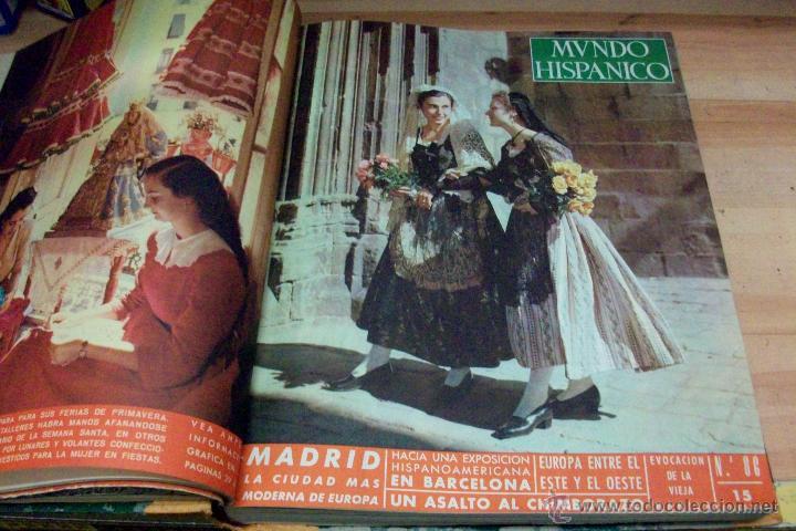 Coleccionismo de Revistas y Periódicos: MUNDO HISPANICO-TOMO CON 10 REVISTAS AÑOS 1954/1955 - Foto 3 - 53896151