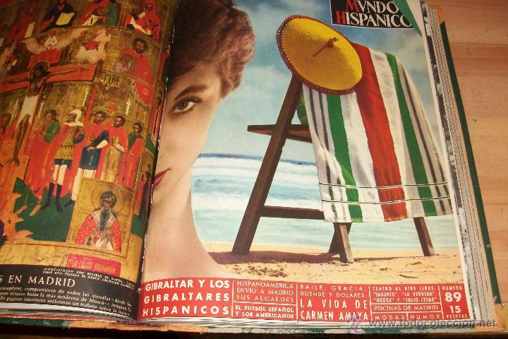 Coleccionismo de Revistas y Periódicos: MUNDO HISPANICO-TOMO CON 10 REVISTAS AÑOS 1954/1955 - Foto 5 - 53896151