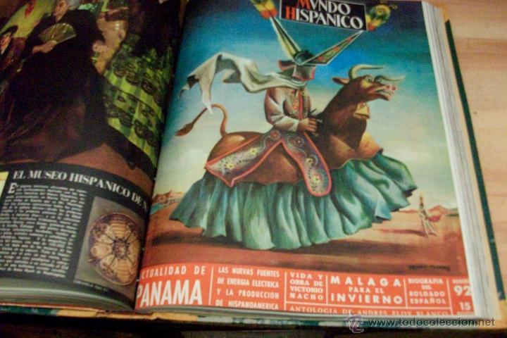 Coleccionismo de Revistas y Periódicos: MUNDO HISPANICO-TOMO CON 10 REVISTAS AÑOS 1954/1955 - Foto 7 - 53896151