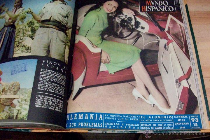 Coleccionismo de Revistas y Periódicos: MUNDO HISPANICO-TOMO CON 10 REVISTAS AÑOS 1954/1955 - Foto 8 - 53896151
