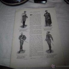 Coleccionismo de Revistas y Periódicos: LOS TENORIOS DE MADRID MANUEL VICO.JOSE GONZALEZ.DIAZ DE MENDOZA HOJA DE REVISTA BLANCO Y NEGRO 1902. Lote 53983350