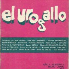 Coleccionismo de Revistas y Periódicos: EL UROGALLO, REVISTA LITERARIA BIMENSUAL. AÑO II NUM 9. MAD 1971 BLAS DE OTERO,V ALEIXANDRE, ABELLAN. Lote 54000261