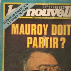 Coleccionismo de Revistas y Periódicos: LES NOUVELLES. Nº 2877. 16 MARS 1983. EDICIÓN FRANCESA. (P/B3). Lote 54014975
