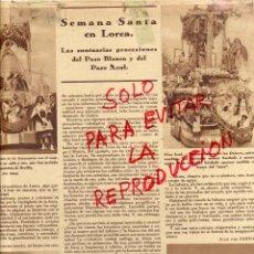 Coleccionismo de Revistas y Periódicos: LORCA 1930 SEMANA SANTA HOJA REVISTA. Lote 54038175