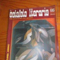 Colecionismo de Revistas e Jornais: LA ESTAFETA LITERARIA, REVISTA DE LIBROS, ARTES Y ESPECTACULOS Nº 616 DE 1977. FRANCISCO UMBRAL, +... Lote 54055792