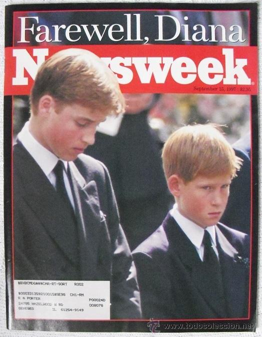 REVISTA ''NEWSWEEK'' - ''FAREWELL, DIANA'' - MUERTE DE LADY DI (1997) (Coleccionismo - Revistas y Periódicos Modernos (a partir de 1.940) - Otros)