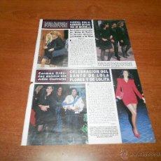 Coleccionismo de Revistas y Periódicos: RECORTE DE PRENSA 1994: CARMEN ORDOÑEZ EN EL SANTO DE LOLA FLORES. Lote 54068466