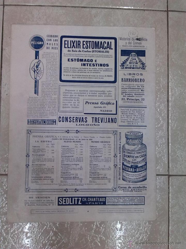 Coleccionismo de Revistas y Periódicos: Revista La Esfera - Foto 2 - 54071919