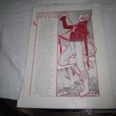 Coleccionismo de Revistas y Periódicos: EN DIAS NEGROS POR ENRIQUEZ MENENDEZ,DIBUJO E.VARELA HOJA DE REVISTA BLANCO Y NEGRO 1902. Lote 54078598