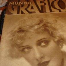 Coleccionismo de Revistas y Periódicos: REVISTA MUNDO GRAFICO. Nº 987 DEL 1 DE OCTUBRE 1930 - 62 PGS. Lote 54084719