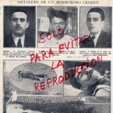 Coleccionismo de Revistas y Periódicos: MALAGA 1924 CRIMEN DETALLES HOJA REVISTA. Lote 54097700