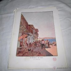 Coleccionismo de Revistas y Periódicos: EL ARENAL DE VIGO POR AVENDAÑO HOJA DE REVISTA BLANCO Y NEGRO 1902. Lote 54143814