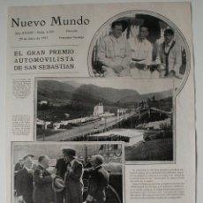 Coleccionismo de Revistas y Periódicos: HOJA DE REVISTA ORIGINAL 1927. EL GRAN PREMIO AUTOMOVILISTA DE SAN SEBASTIAN. Lote 54177626