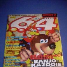 Coleccionismo de Revistas y Periódicos: REVISTA MAGAZINE 64 NINTENDO Nº 9. SEPTIEMBRE 1998. Lote 54250500