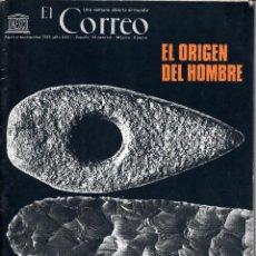 Coleccionismo de Revistas y Periódicos: EL CORREO. UNESCO AGOSTO-SEPTIEMBRE 1972. EL ORIGEN DEL HOMBRE.. Lote 54252925