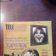 Coleccionismo de Revistas y Periódicos: REVISTA TELERADIO N° 641.AÑO 1970 NURIA TORRAY. Lote 54300517