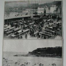 Coleccionismo de Revistas y Periódicos: HOJA DE REVISTA ORIGINAL ANTIGUA. EXPOSICION CANOAS-AUTOMOVILES DE MONACO. Lote 54335703