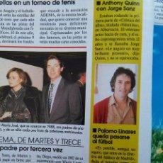 Coleccionismo de Revistas y Periódicos: RECORTE PALOMO LINARES MARTES Y TRECE. Lote 54379069