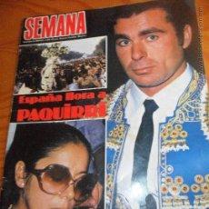 Coleccionismo de Revistas y Periódicos: SEMANA Nº 2330 DE 1984- MUERTE PAQUIRRI, JULIO IGLESIAS, GREMLINS, FRANK SINATRA, SOFIA LOREN, VER+. Lote 54414467