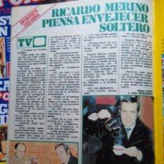 Coleccionismo de Revistas y Periódicos: RECORTE RICARDO MERINO. Lote 54429561