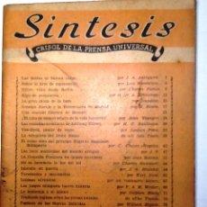 Coleccionismo de Revistas y Periódicos: SINTESIS. FBERERO 1947. VOL III NUM 14. CRISOL DE LA PRENSA UNIVERSAL. Lote 54432577
