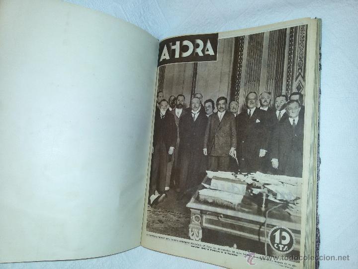 Coleccionismo de Revistas y Periódicos: AHORA-DIARIO GRÁFICO-17 NÚMEROS ENCUADERNADOS-AÑO 1931 - Foto 7 - 54437532