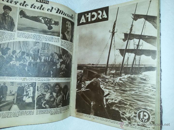 Coleccionismo de Revistas y Periódicos: AHORA-DIARIO GRÁFICO-17 NÚMEROS ENCUADERNADOS-AÑO 1931 - Foto 8 - 54437532