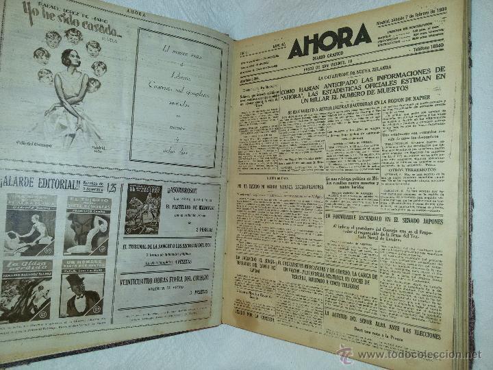 Coleccionismo de Revistas y Periódicos: AHORA-DIARIO GRÁFICO-17 NÚMEROS ENCUADERNADOS-AÑO 1931 - Foto 9 - 54437532