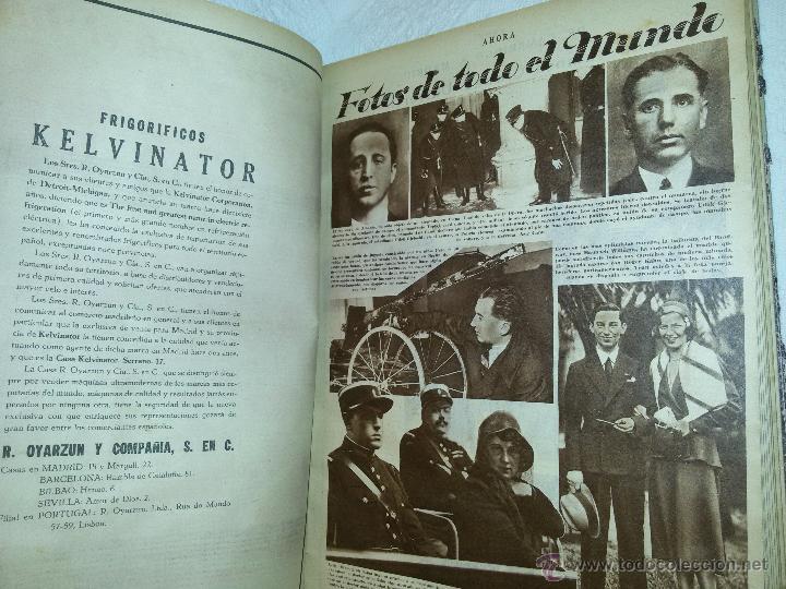 Coleccionismo de Revistas y Periódicos: AHORA-DIARIO GRÁFICO-17 NÚMEROS ENCUADERNADOS-AÑO 1931 - Foto 13 - 54437532