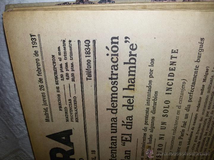Coleccionismo de Revistas y Periódicos: AHORA-DIARIO GRÁFICO-17 NÚMEROS ENCUADERNADOS-AÑO 1931 - Foto 14 - 54437532