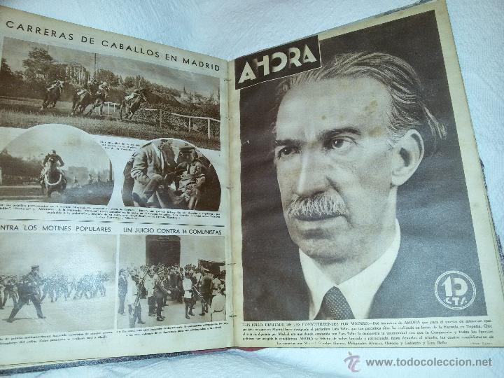 Coleccionismo de Revistas y Periódicos: AHORA-DIARIO GRÁFICO-17 NÚMEROS ENCUADERNADOS-AÑO 1931 - Foto 19 - 54437532