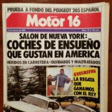 Collezionismo di Riviste e Giornali: DIFERENTES NÚMEROS DE LA REVISTA DE COCHES MOTOR 16 DE LOS AÑOS 80. Lote 54449581