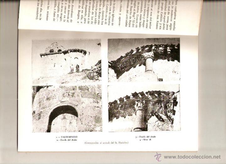 Coleccionismo de Revistas y Periódicos: AÑO 1956 HISTORIA VALDEARNEDO BRIVIESCA BURGOS CAPILLA PRESENTACION FELIPE VIGARNI ROMANICO BURGALES - Foto 2 - 54576647