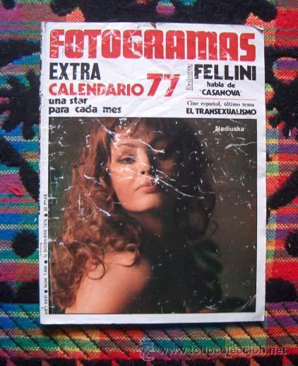REVISTA FOTOGRAMAS / CALENDARIO 1977 COMPLETO... AGATA LYS, NADIUSKA, MARY FRANCIS,...VER FOTO (Coleccionismo - Revistas y Periódicos Modernos (a partir de 1.940) - Otros)